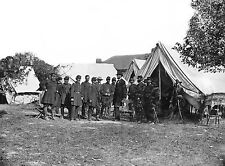 "Abraham Lincoln & Generals at Antietam Civil War (1862) -17""x22"" Art Print-00096"