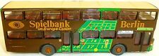 Game Bank Berlin 99E Advertising Bus Man SD 200 DETAILED FROM WIKING BUS H0 1:87