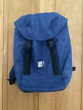 New Herschel Supply Co Iona large laptop travel Backpack Rucksack Blue BNWT 24L