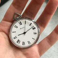 Vintage Slim RAKETA Analog Pocket Watch Samson Lion RARE Soviet Casual SERVICED