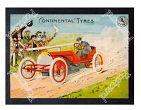 Historic Continental Tyres 1905 Advertising Postcard