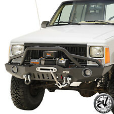 83-01 Jeep Grand Cherokee XJ Front Bumper with Pre-Runner Hoop&LED Lights