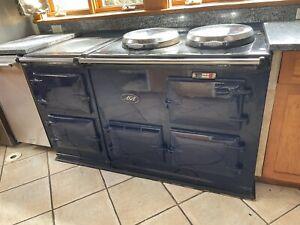 Aga Deluxe Model Direct Vent Range 4-Oven Cooker / Stove in Cobalt Blue