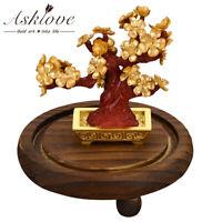 Lucky Tree Fortune Plum tree Bonsai Gold foil Crafts Desktop Ornament Home decor