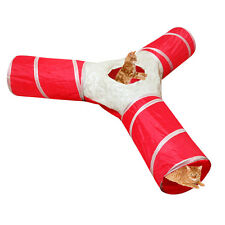 Evelots Pet Cat Tunnel,Collapsible, 3 Way Play Toy,Tube Fun Rabbits,Kittens,Dogs