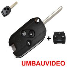 HD337 Klappschlüssel Gehäuse für 3-Tasten Honda Fernbedienung+Video+Tastenfeld