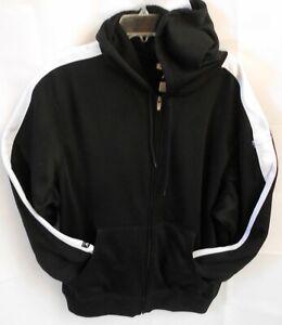 Antigua Mens XLarge Black Sweatshirt Jacket Hoodie Full Zipper Flint River Golf