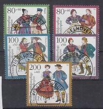 Bund - Wohlfahrt 93 Nr. 1696 - 1700 VOLLSTEMPEL VISSELHÖVEDE