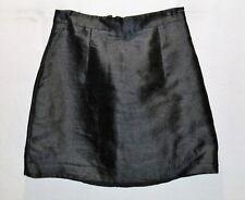 KOOKAI Brand Black Silk Blend Fitted Day Skirt Size 38 BNWT #TN15