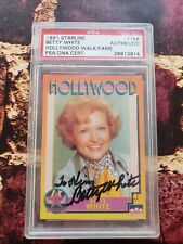 BETTY WHITE Signed 1991 Starline Hollywood Card Autograph Auto PSA/DNA Slabbed