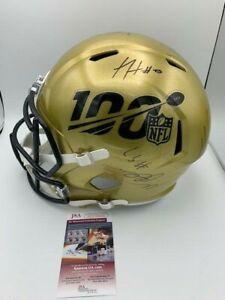 NFL 100 Signed F/S HELMET TERRELL DAVIS GENO ATKINS XAVIEN HOWARD JSA PICS