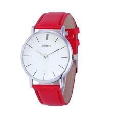 Mode Damen Quarzuhr Uhren Leder Band Klassisch Dial Analog Causal Armbanduhr