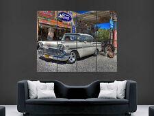 CHEVROLET 1958 classic car image grand mur affiche photo