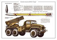 "Soviet Russian Weapon Poster Print Handheld Grenade Launcher RPG-7D 24x36/"""