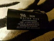 NGM MOTOR RUN CAPACITOR 15 MF 250 VAC 50/60 HZ