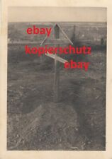 Orig. Foto Soldatengräber Kradschützenregiment T-Div 1943 Elitesoldaten