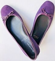 ROCKPORT Adiprene by Adidas Purple Brushed Leather Ballet Flats Shoes Size 8M