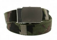 Unisex Canvas Military Army Green Camouflage Pattern Canvas Webbing Belt
