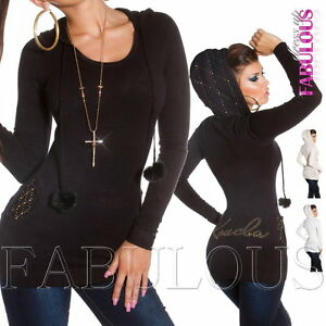 Ladies Sweater Pullover Jumper Top Hoodie (US Size 2 4 6 ) AU SIZE 6 8 10 XS S M