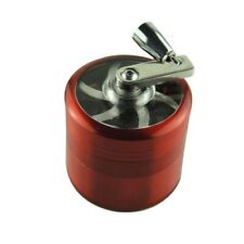 4-Pieces Herbal Alloy Smoke Metal Chromium Crusher Tobacco Herb Spice Grinder