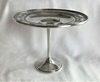 Antique Whiting Sterling Silver Footed Compote Tazza Ornate Rim Pedestal