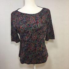 Ralf Lauren Womans medium short sleeve round neck pasley shirt