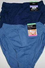 2 Bali Nylon Hi Cut Brief Panty Set Soft Seamless 8 XL/9 2XL Blue NWT