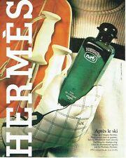 PUBLICITE ADVERTISING 0217  1982  Eau de Cologne Hermès  après le ski