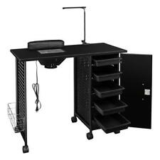 Manicure Nail Table Station Desk Spa Beauty Salon Equipment with 5 Drawers