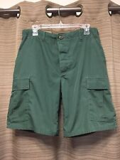 "PROPPER COMBAT TROUSER SHORTS SZ M SOLID ARMY GREEN CARGO 31-35"" W"