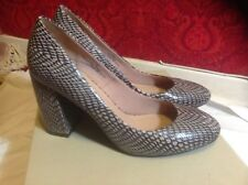 471e190bd M S Marks s6 Autograph Neutral Mix Snakeskin Leather Block High Heel Shoes