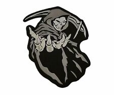 Large Hooded Grim Reaper Patch Biker Jacket or Vest Patch Iron/Sew on 5 Colors