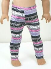 "Reindeer Fair Isle Leggings Doll Clothes For 18"" American Girl Accessories"