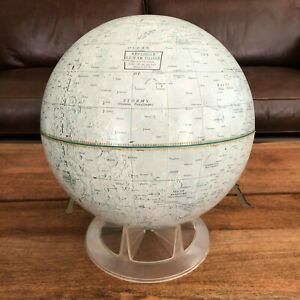 RARE Vintage 12 inch The Moon Lunar Globe Replogle with stand Made in USA