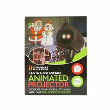 Christmas Santa and Snowman Animated Projector | Party Outdoor Indoor Event