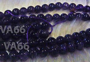 "DIY Purple 10mm Amethyst  A+ Gemstone Round Gemstones 15"" Beads Batu Asli"