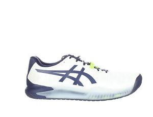 ASICS Mens Gel-Resolution 8 White/Peacoat Running Shoes Size 10.5 (2E) (1872917)