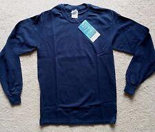 Gildan Insect Shield Repellent Mens Navy Blue Cotton LS T-Shirt SZ S - New!