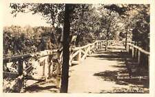 St Jean Port Joli Quebec Forest Bridge Real Photo Antique Postcard K62977