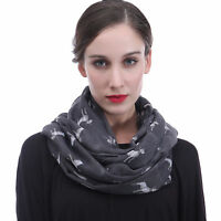 Bull Terrier Print Womens Infinity Loop Scarf Pet Puppy Dog Lover Gift for Her