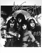 KISS ' ACE FREHLEY Signed AUTOGRAPH Rare Photo w/ GENE SIMMONS sweet!