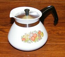 Vintage Corning Ware (P-104) 6 Cup Clean Stove Top Teapot With Lid **U.S.A.**