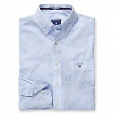 Gant Shirt - Gant Men's The Poplin Banker Stripe Shirt Hamptons Blue