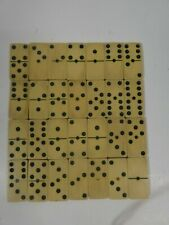 Set of 28 Pieces Vintage Cow Bone Dominoes