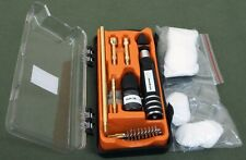 Pistol kit for .22, .357/ 9mm, .45, compact with Brass Jags, Brushes & Patches.