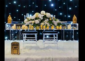 Wedding & Events Reception Display Table Clear Acrylic Top and Legs