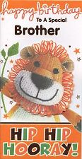 WOOLLY & FRIENDS LION TO A SPECIAL BROTHER BIRTHDAY GREETING CARD 1STP&P