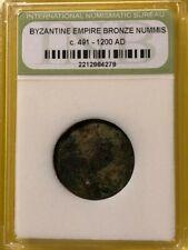 Ancient Coin: Byzantine Empire Bronze Nummis c. 491 - 1200 A.D