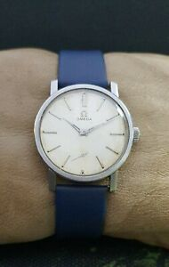 OMEGA cal.30T2 SS 35mm VINTAGE 50's RARE 15J SWISS WATCH.