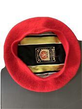 Vintage 1960's Basque Red Wool Beret Hat Women's